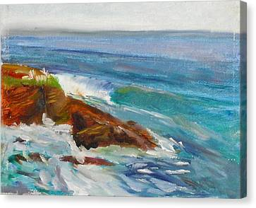 Canvas Print featuring the painting La Jolla Cove 008 by Jeremy McKay