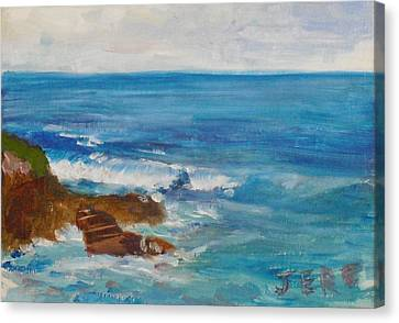 Canvas Print featuring the painting La Jolla Cove 009 by Jeremy McKay