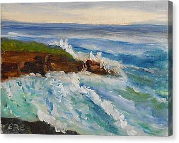 Canvas Print featuring the painting La Jolla Cove 010 by Jeremy McKay