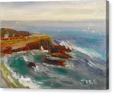 Canvas Print featuring the painting La Jolla Cove 011 by Jeremy McKay