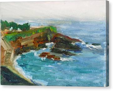 Canvas Print featuring the painting La Jolla Cove 012 by Jeremy McKay