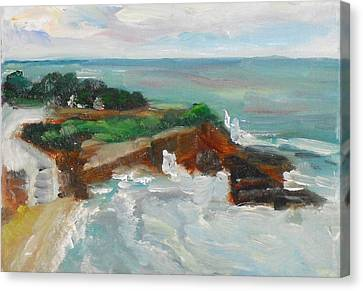 Canvas Print featuring the painting La Jolla Cove 013 by Jeremy McKay