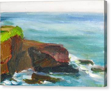 Canvas Print featuring the painting La Jolla Cove 014 by Jeremy McKay