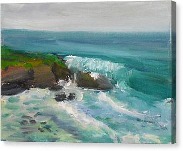 Canvas Print featuring the painting La Jolla Cove 015 by Jeremy McKay