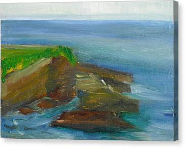 Canvas Print featuring the painting La Jolla Cove 016 by Jeremy McKay