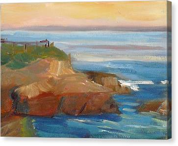Canvas Print featuring the painting La Jolla Cove 018 by Jeremy McKay