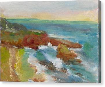 Canvas Print featuring the painting La Jolla Cove 019 by Jeremy McKay