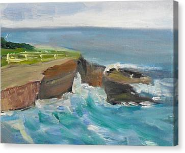Canvas Print featuring the painting La Jolla Cove 020 by Jeremy McKay