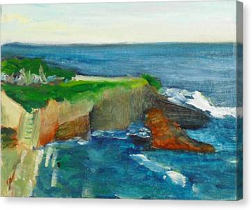 Canvas Print featuring the painting La Jolla Cove 021 by Jeremy McKay