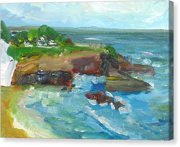 Canvas Print featuring the painting La Jolla Cove 022 by Jeremy McKay