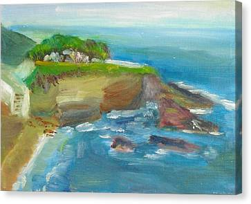 Canvas Print featuring the painting La Jolla Cove 025 by Jeremy McKay