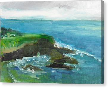 Canvas Print featuring the painting La Jolla Cove 026 by Jeremy McKay