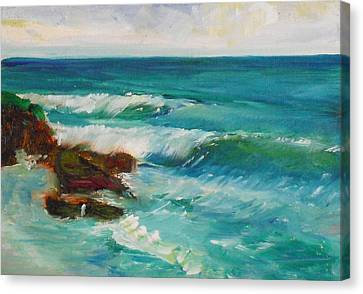 Canvas Print featuring the painting La Jolla Cove 027 by Jeremy McKay