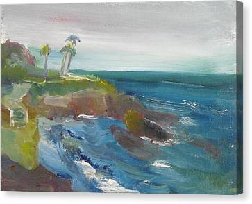 Canvas Print featuring the painting La Jolla Cove 028 by Jeremy McKay