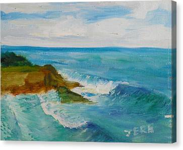 Canvas Print featuring the painting La Jolla Cove 029 by Jeremy McKay