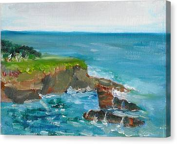 Canvas Print featuring the painting La Jolla Cove 030 by Jeremy McKay