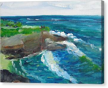 Canvas Print featuring the painting La Jolla Cove 031 by Jeremy McKay