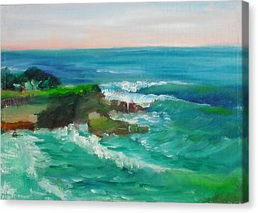 Canvas Print featuring the painting La Jolla Cove 032 by Jeremy McKay