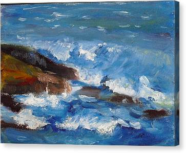 Canvas Print featuring the painting La Jolla Cove 035 by Jeremy McKay