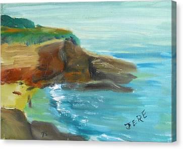 La Jolla Cove 071 Canvas Print by Jeremy McKay