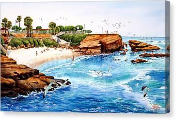 La Jolla Cove Canvas Print by John YATO