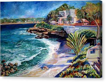 La Jolla Cove Canvas Print by Nancy Isbell