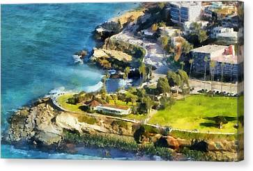 La Jolla Art Canvas Print - La Jolla Cove  by Russ Harris