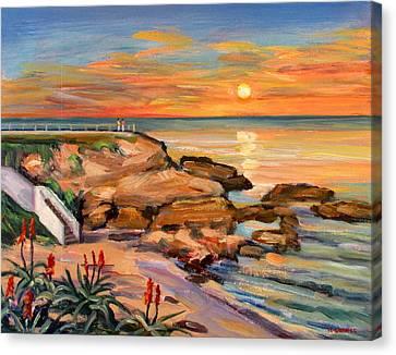 La Jolla Cove Sunset Canvas Print by Robert Gerdes