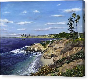 La Jolla Cove West Canvas Print by Lisa Reinhardt