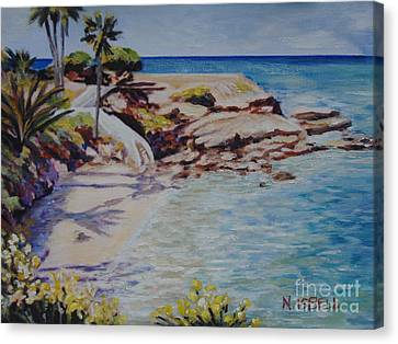 La Jolla Cove West Canvas Print by Nancy Isbell