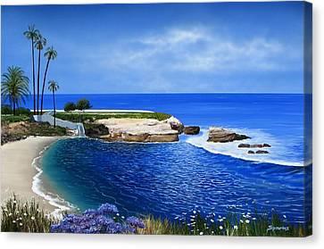 La Jolla Cove Xxxi Canvas Print by John Sparks