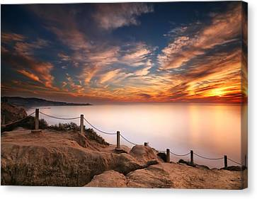 La Jolla Art Canvas Print - La Jolla Sunset by Larry Marshall