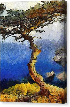 La Jolla Art Canvas Print - La Jolla Torrey Pines  by Russ Harris