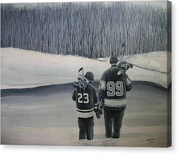 La Kings In Black And White Canvas Print by Ron  Genest
