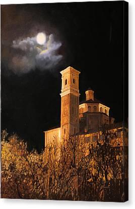 la luna a Cherasco Canvas Print