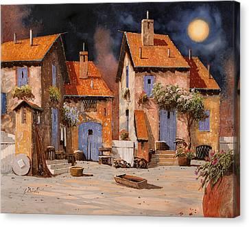 La Luna Gialla Canvas Print by Guido Borelli