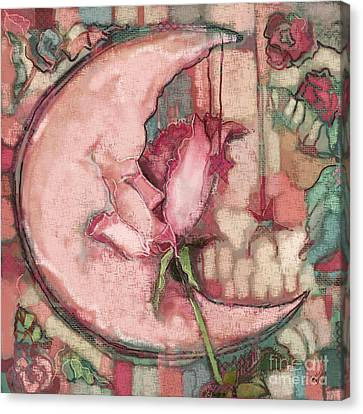 La Luna Rosa Canvas Print by Carrie Joy Byrnes