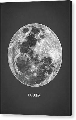 La Luna Canvas Print by Taylan Apukovska