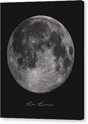 La Lune, The Moon Canvas Print
