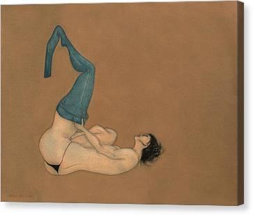 La Lutte Canvas Print by Antonio Ortiz