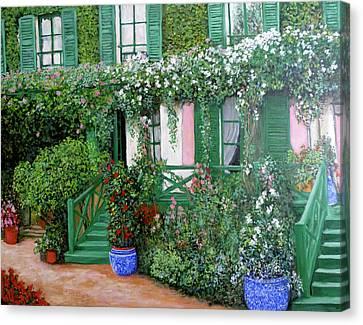 La Maison De Claude Monet Canvas Print by Tom Roderick