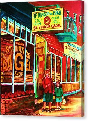 La Maison Du Bagel Canvas Print by Carole Spandau