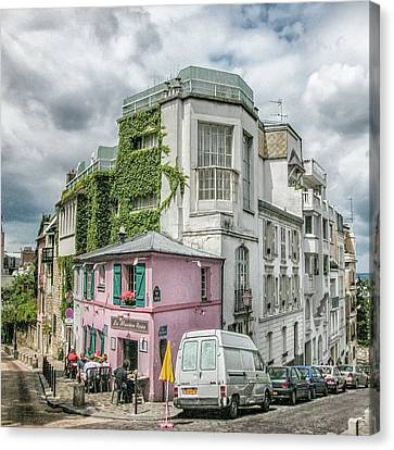 Canvas Print featuring the photograph La Maison Rose by Alan Toepfer