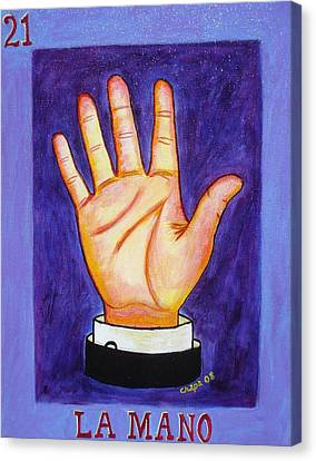 La Mano Canvas Print by Manny Chapa