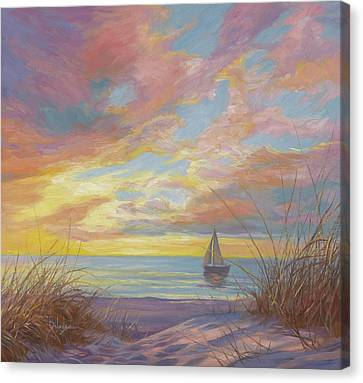 Cape Cod Scenery Canvas Print - La Mer by Lucie Bilodeau