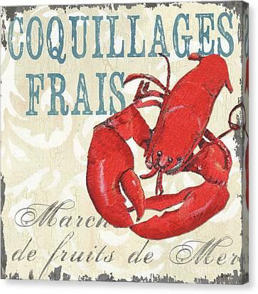 La Mer Shellfish 2 Canvas Print by Debbie DeWitt