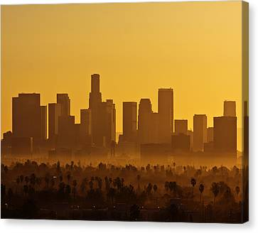 Canvas Print featuring the photograph L. A. Morning by Ron Dubin