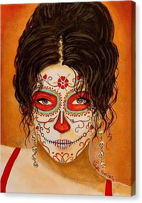 La Muerte Elegante Canvas Print by Al  Molina