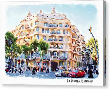 La Pedrera Barcelona Canvas Print by Marian Voicu