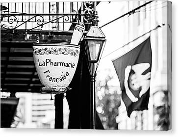 Pestal Canvas Print - La Pharmacie Francaise - Bw by Scott Pellegrin